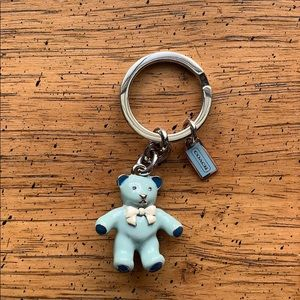 RARE COACH Baby Boy Blue Bear Key Fob